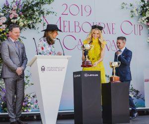 Melbourne Cup Launch 2019 by VRC Chairman Amada Elliott