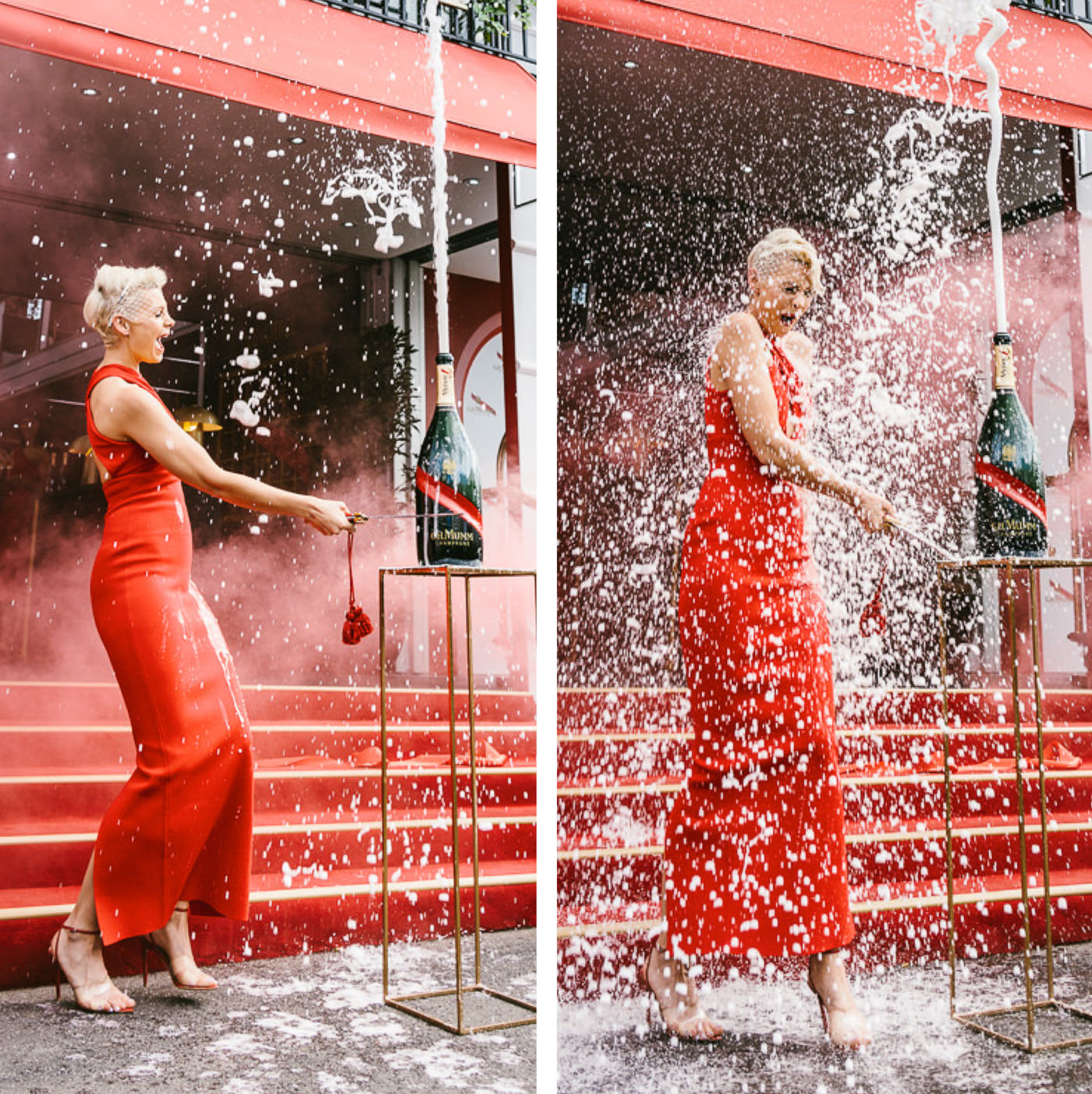 Kate Peck champagne shower at the 2019 Melbourne Cup Carnival in Flemington - Birdcage 2019
