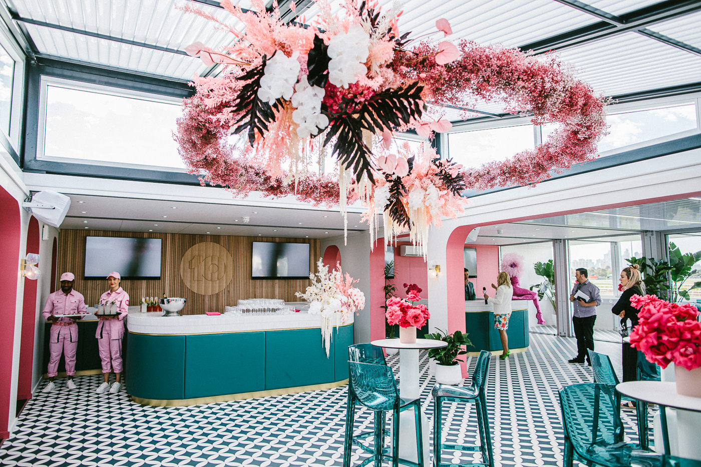 channel 10 marquee at the birdcage - 1st level - enjoy the races in a tv studio