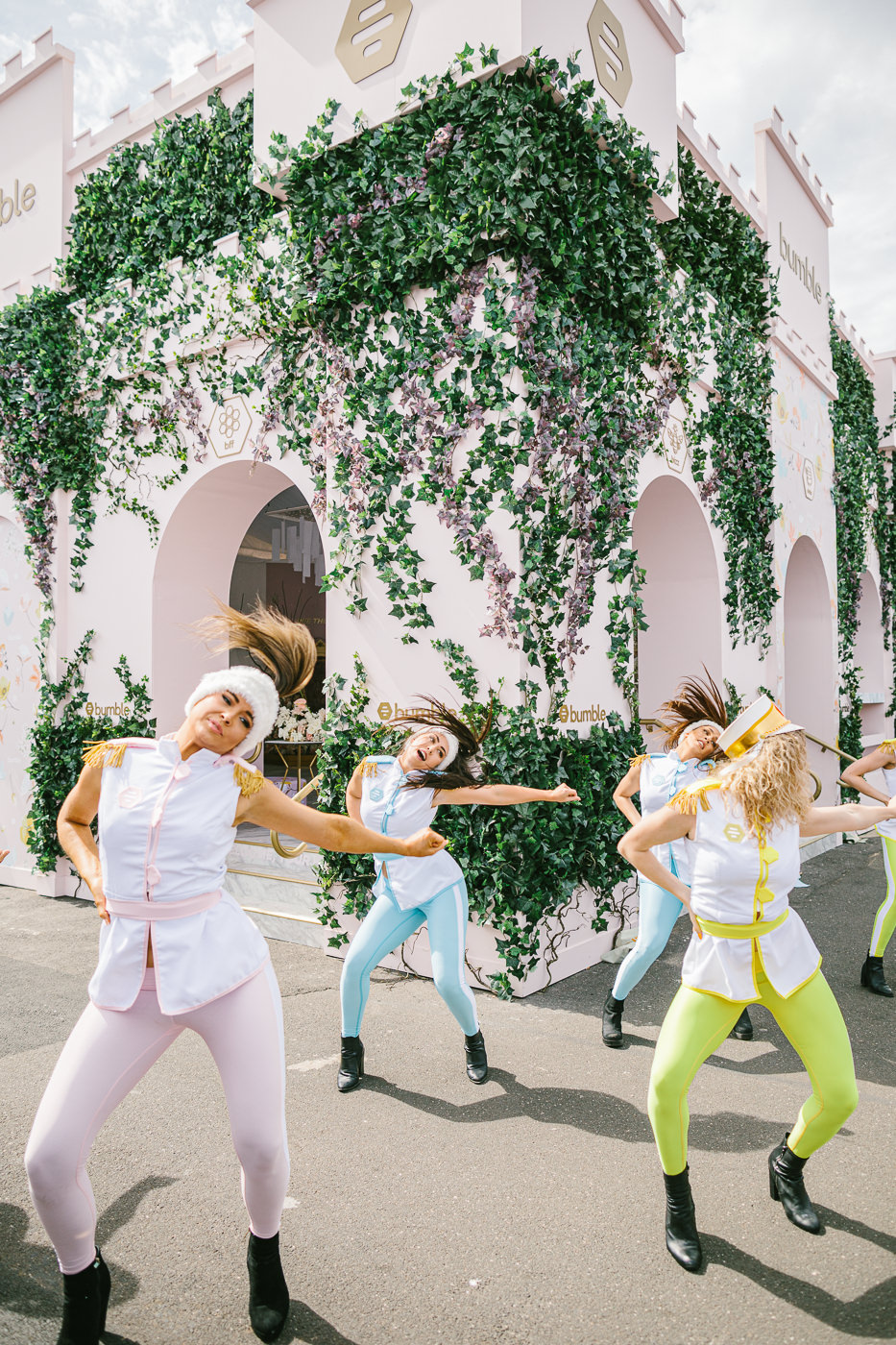 dancers at bumble marquee at the melbourne spring racing carnival
