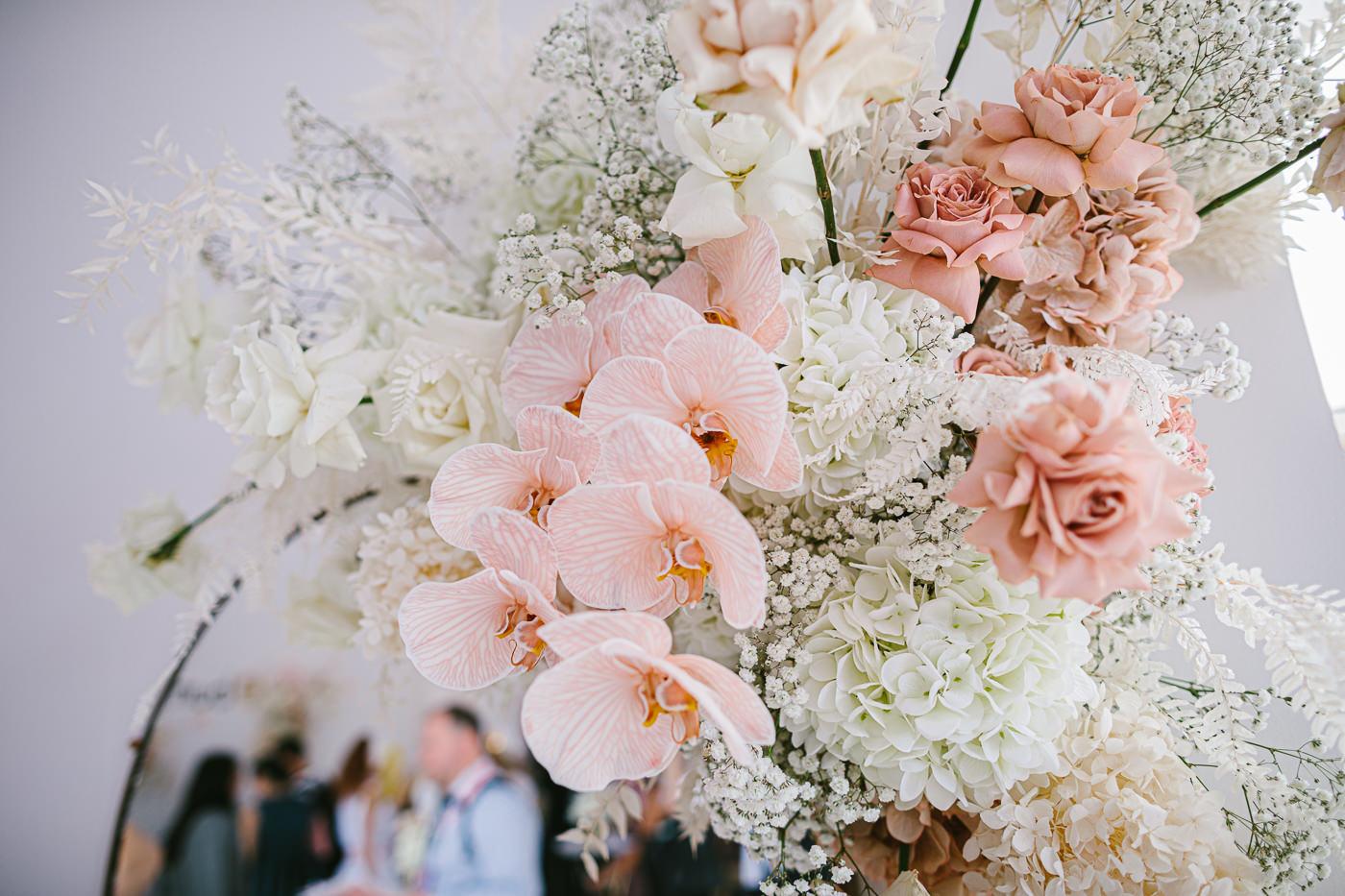 flower arrangements at event
