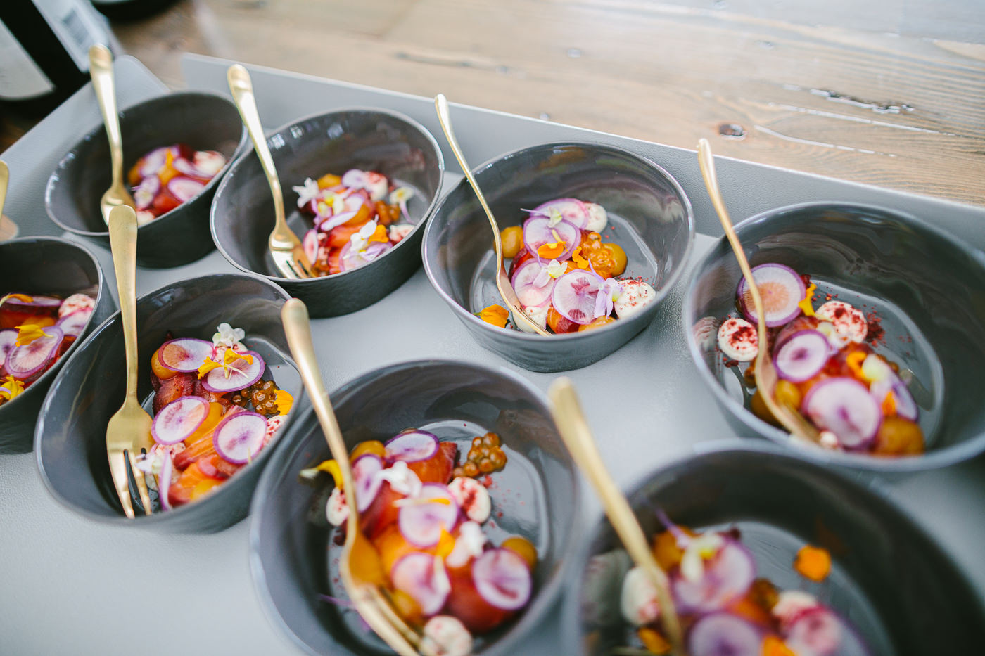 flower infused food - food stylist