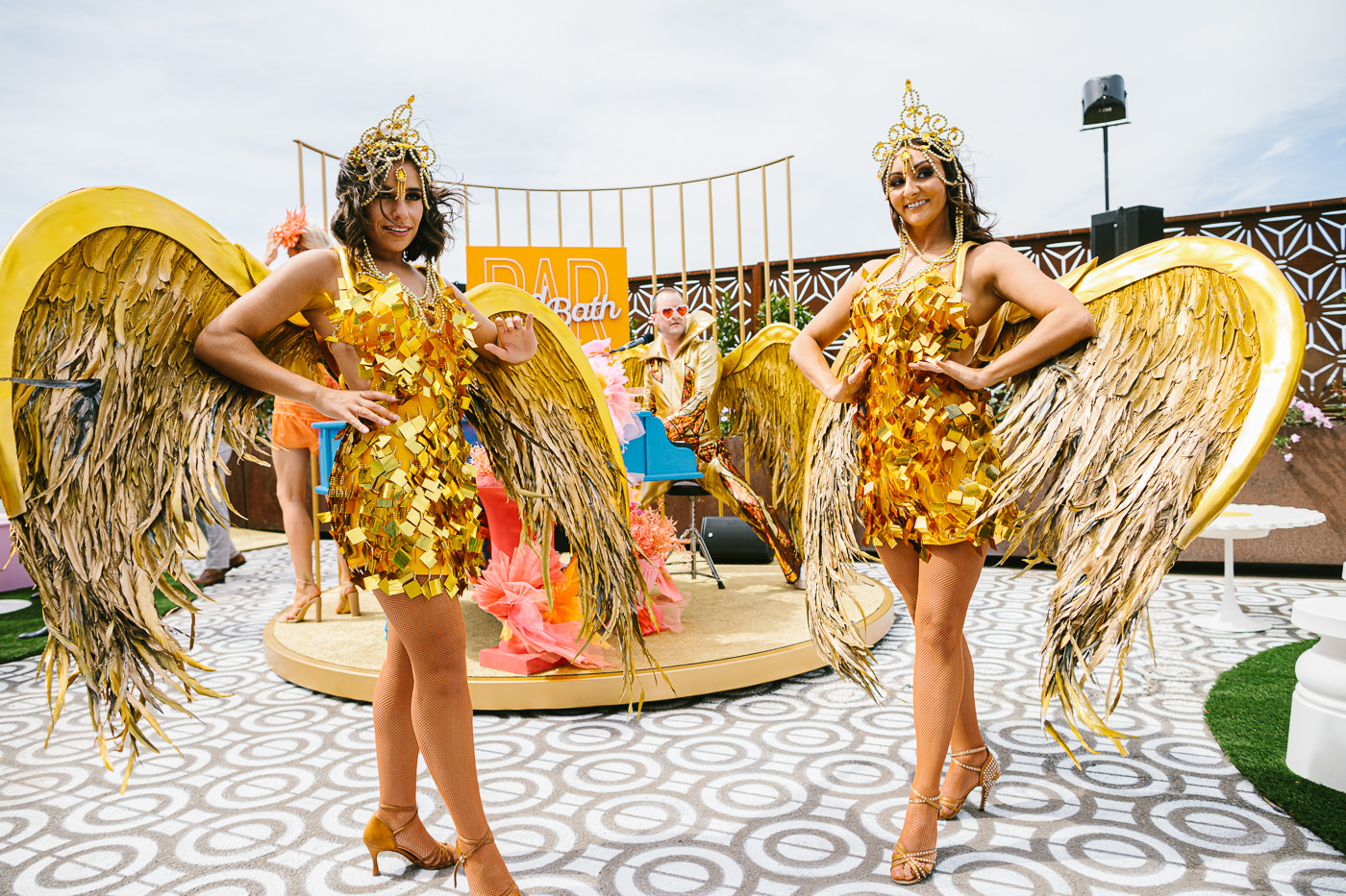 Bird Bath Bar at the Races - Winged dancers performing - Entertainment at the races