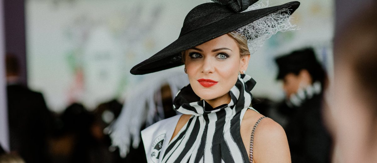 portrait of fashions on the field winner -millinery