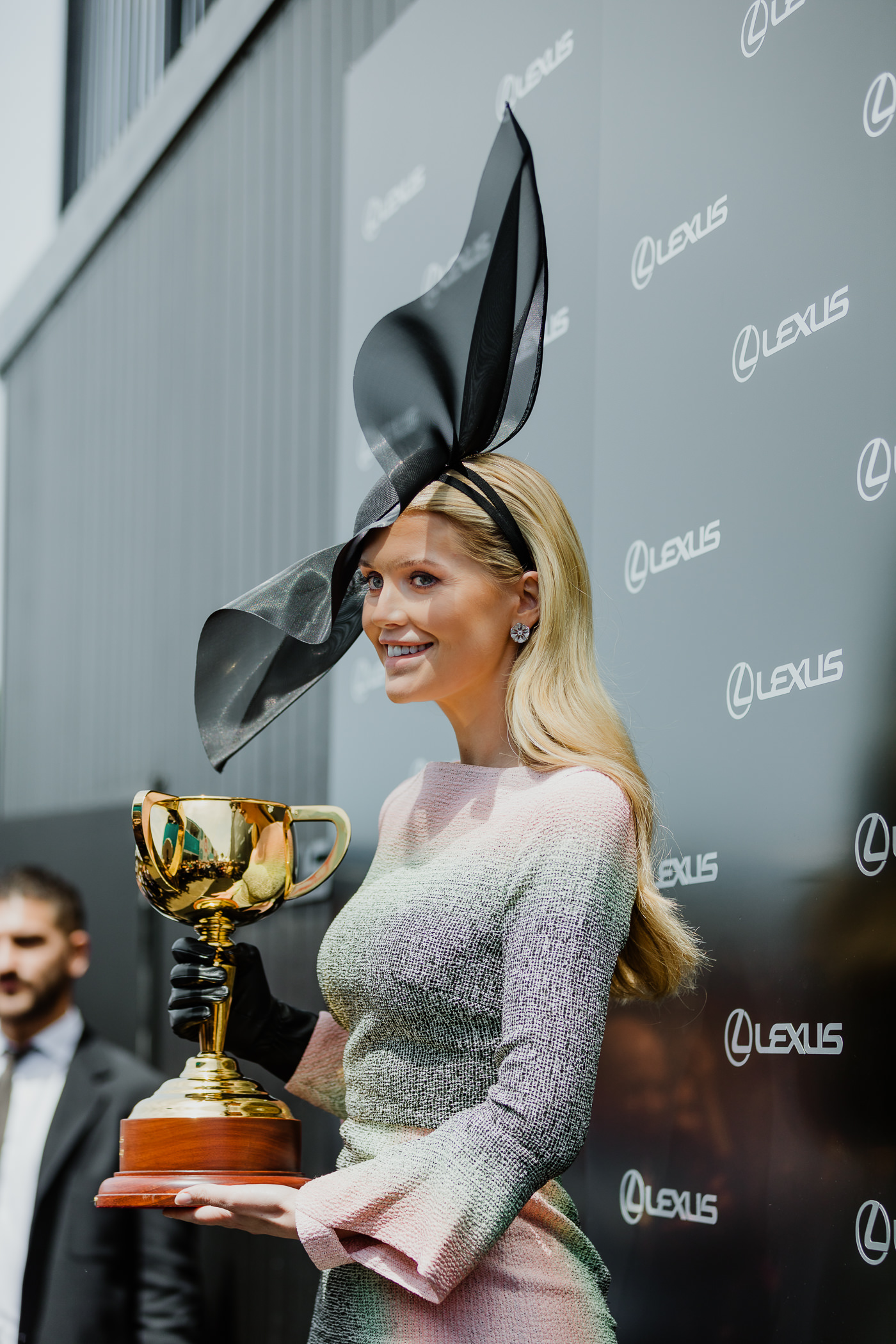 Presenting the Melbourne Cup at the Lexus Marquee in the Birdcage - Kitty Spencer