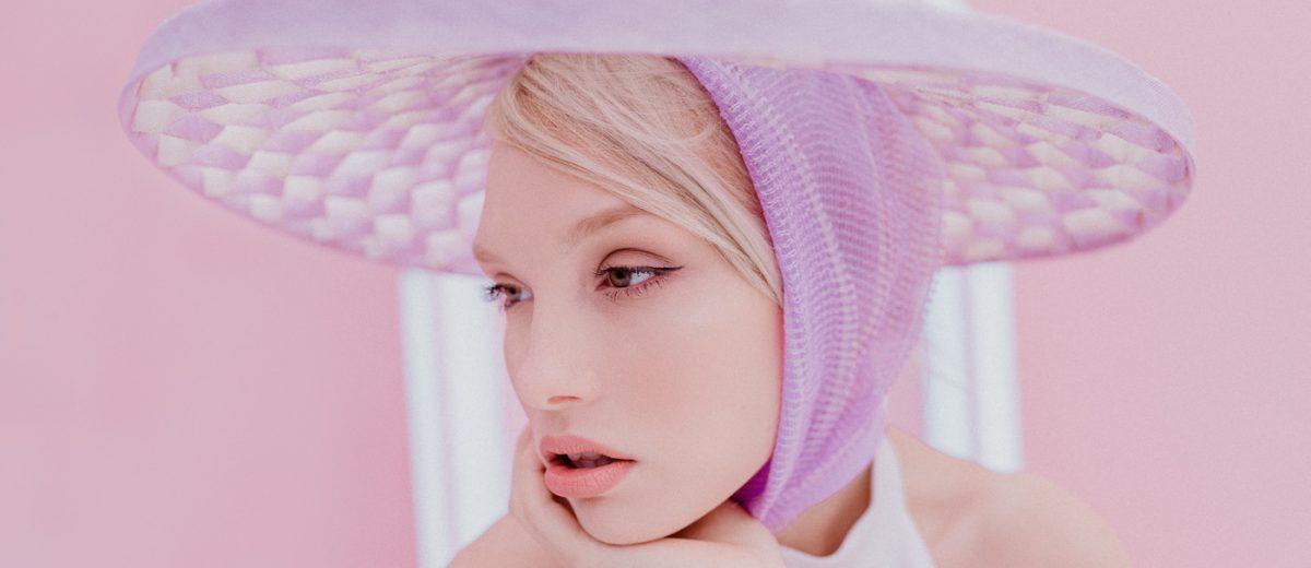 Purple stylish headpiece - Millinery inspiration