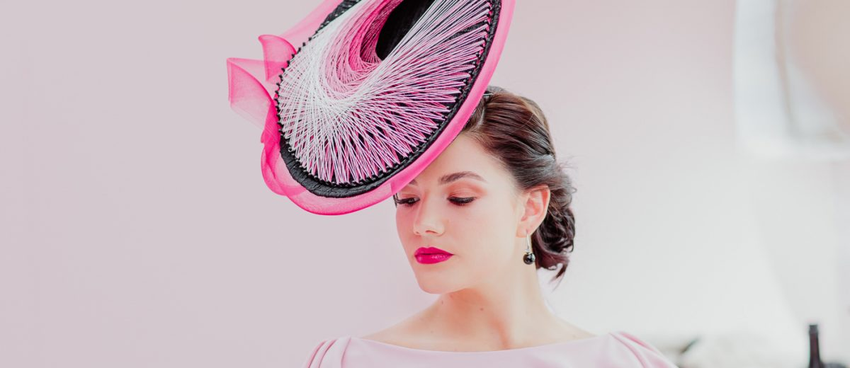 stylish outfit in pink and black - Oaks day inspirations