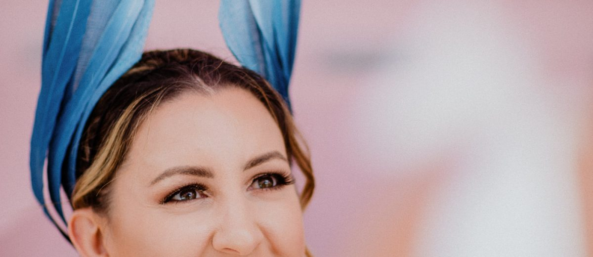 creative millinery - blue