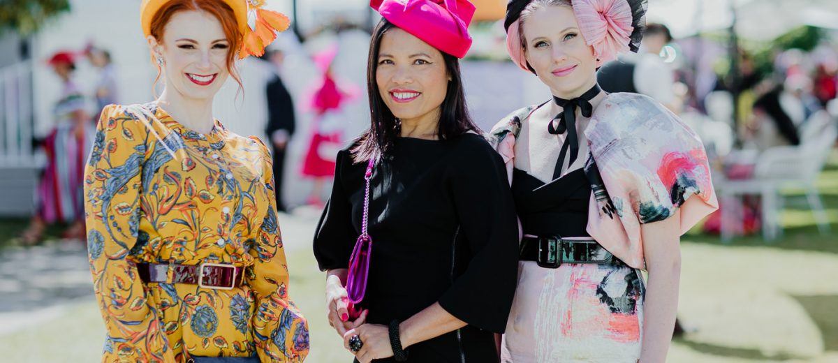Creative Millinery at the Melbourne Spring Racing Carnival (velvet & tonic) Ladies having fun at the races with stunning outfits - Fashion ideas and inspiration - best photos of the spring racing