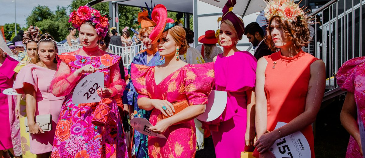 Ladies waiting for the fashions on the field registration