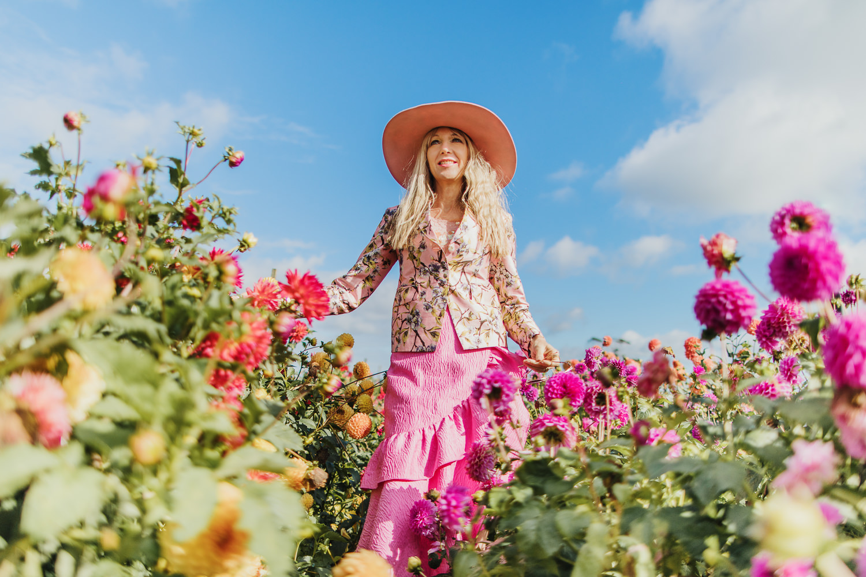 Frohlocking in the flower fields