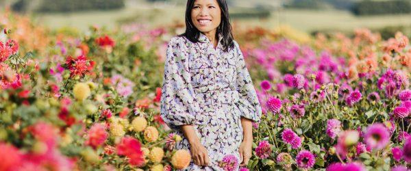 Beautiful Flower Farm - Girl in flower field